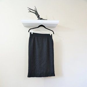 Escada Wool Cashmere Silk Blend High Waist Pencil